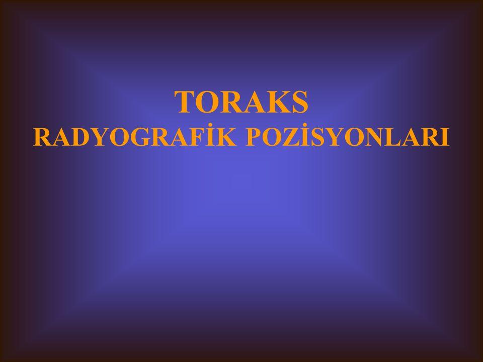 TORAKS RADYOGRAFİK POZİSYONLARI