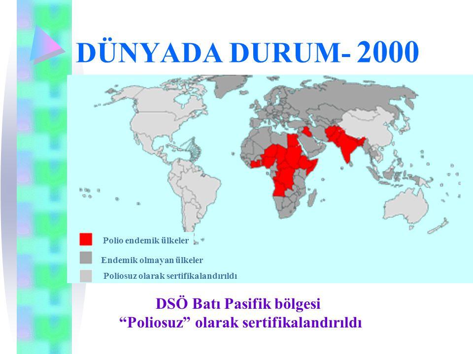 DSÖ Batı Pasifik bölgesi Poliosuz olarak sertifikalandırıldı