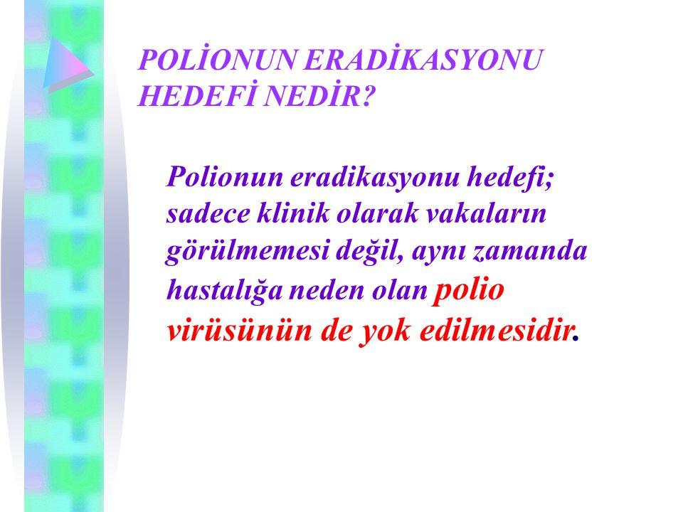 POLİONUN ERADİKASYONU HEDEFİ NEDİR