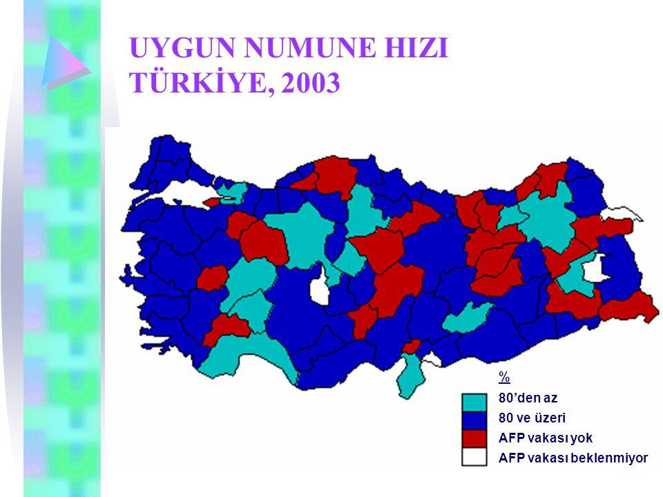 UYGUN NUMUNE HIZI TÜRKİYE, 2003