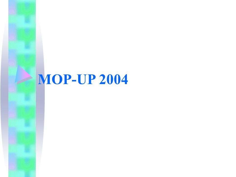 MOP-UP 2004