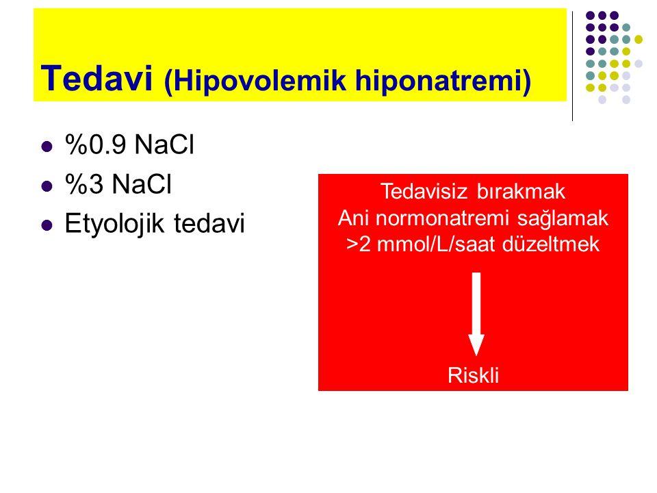 Tedavi (Hipovolemik hiponatremi)