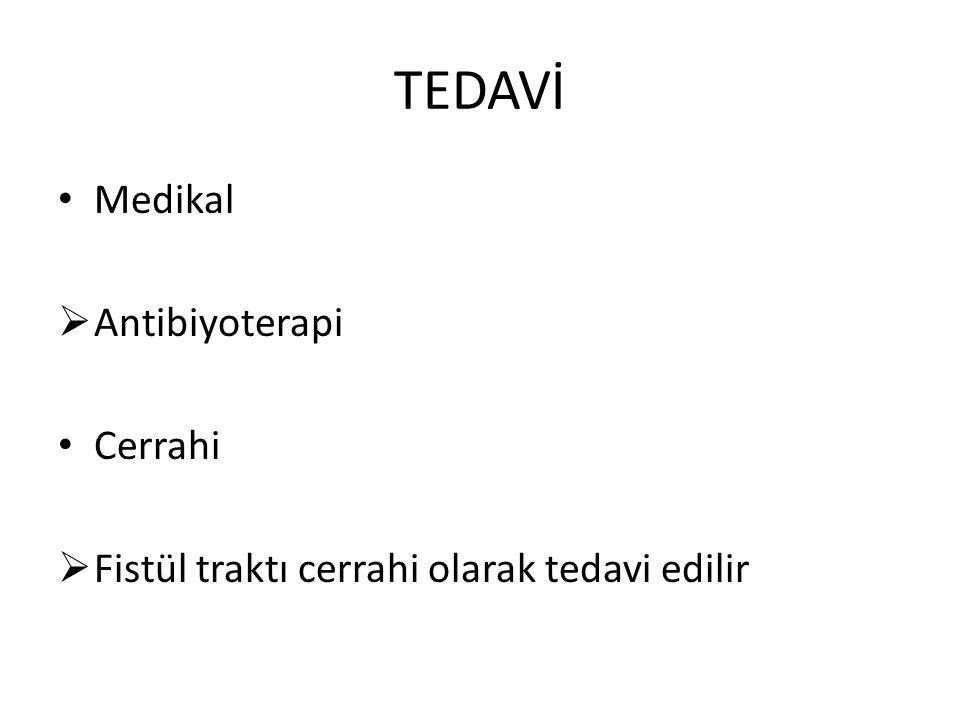TEDAVİ Medikal Antibiyoterapi Cerrahi
