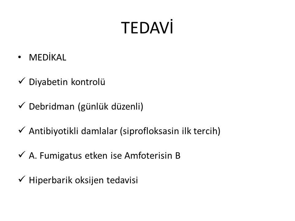 TEDAVİ MEDİKAL Diyabetin kontrolü Debridman (günlük düzenli)