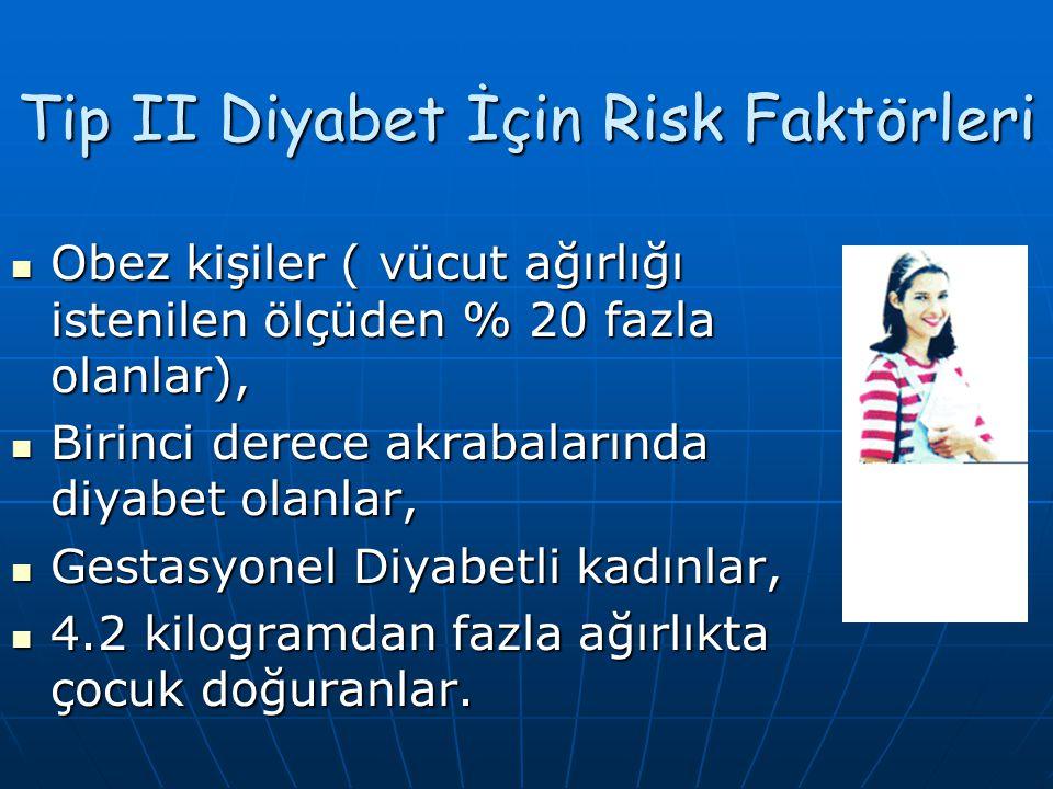 Tip II Diyabet İçin Risk Faktörleri