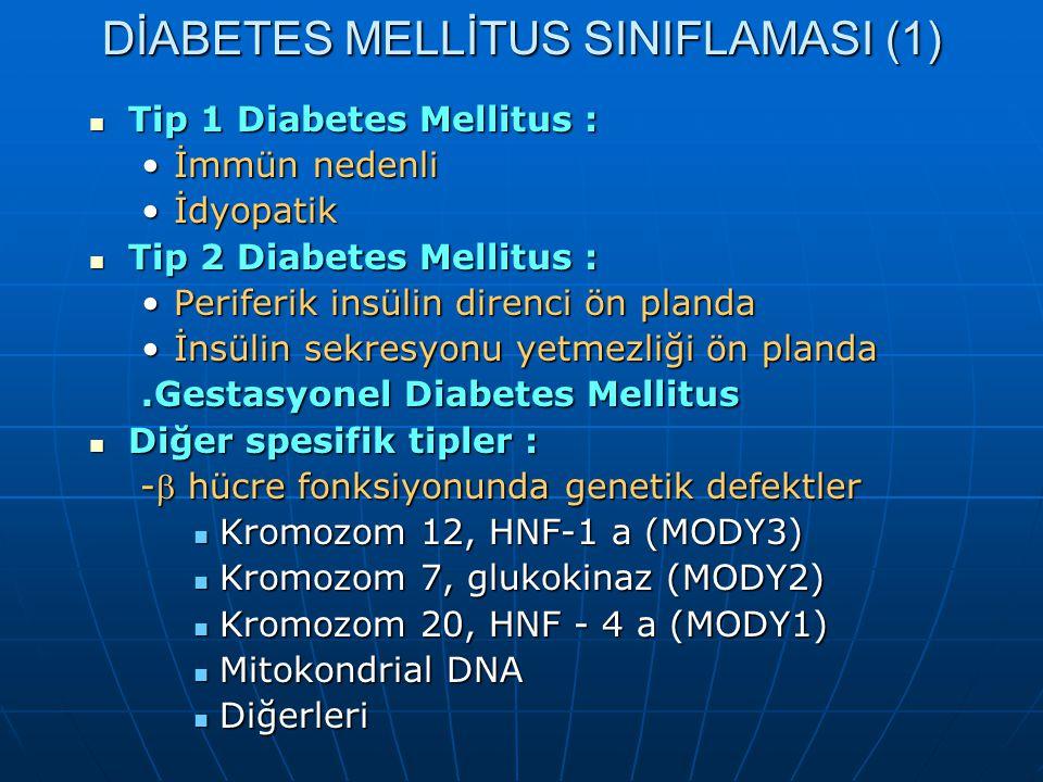 DİABETES MELLİTUS SINIFLAMASI (1)