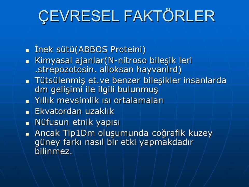 ÇEVRESEL FAKTÖRLER İnek sütü(ABBOS Proteini)