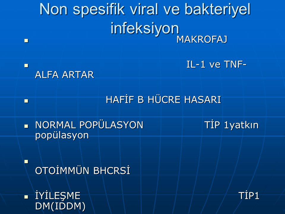 Non spesifik viral ve bakteriyel infeksiyon