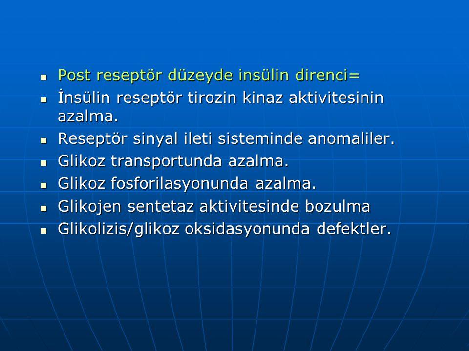 Post reseptör düzeyde insülin direnci=