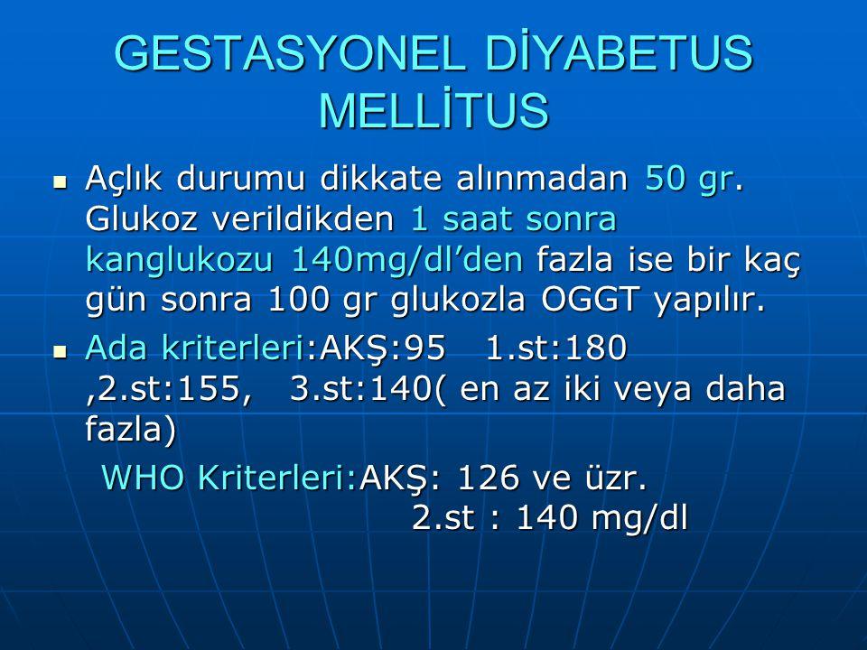 GESTASYONEL DİYABETUS MELLİTUS