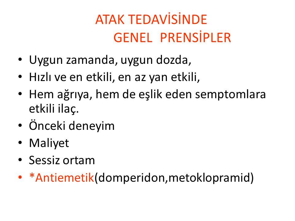 ATAK TEDAVİSİNDE GENEL PRENSİPLER