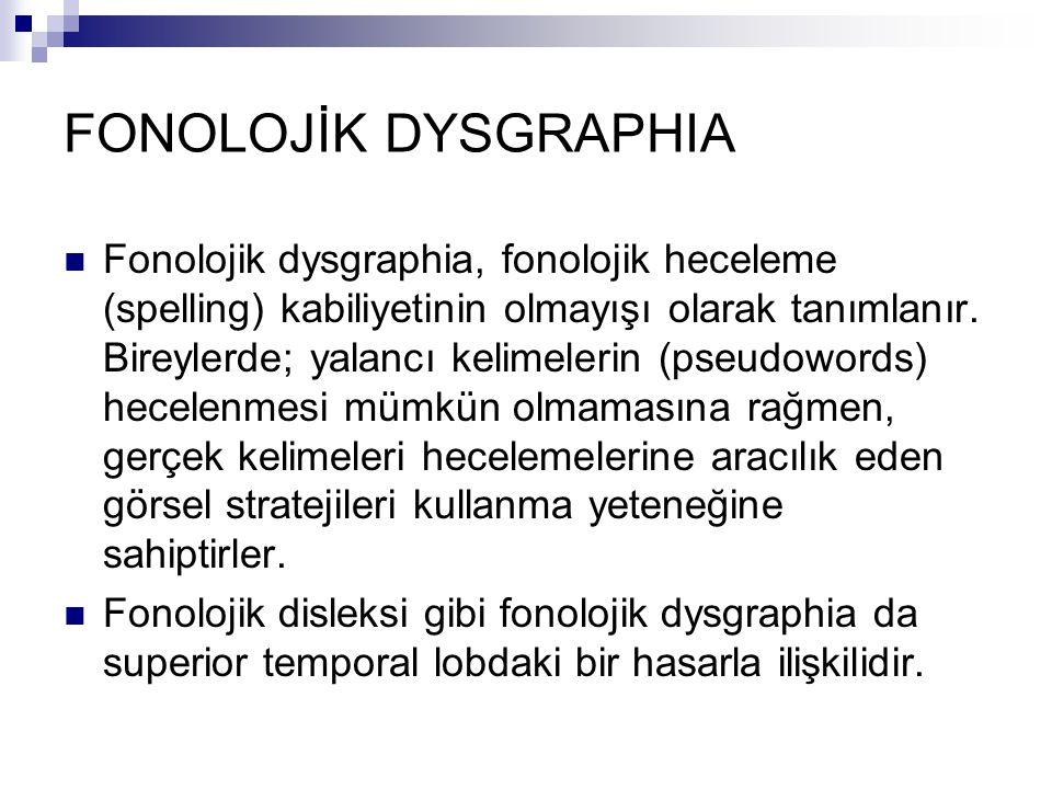 FONOLOJİK DYSGRAPHIA