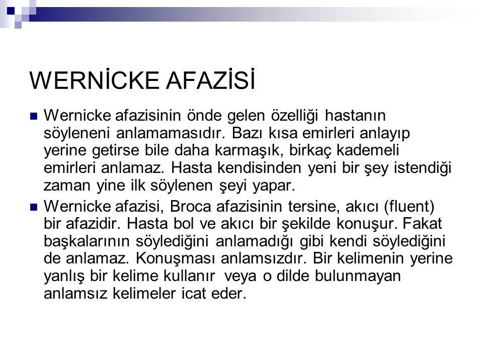 WERNİCKE AFAZİSİ