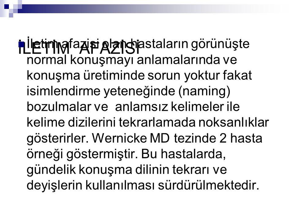 İLETİM AFAZİSİ
