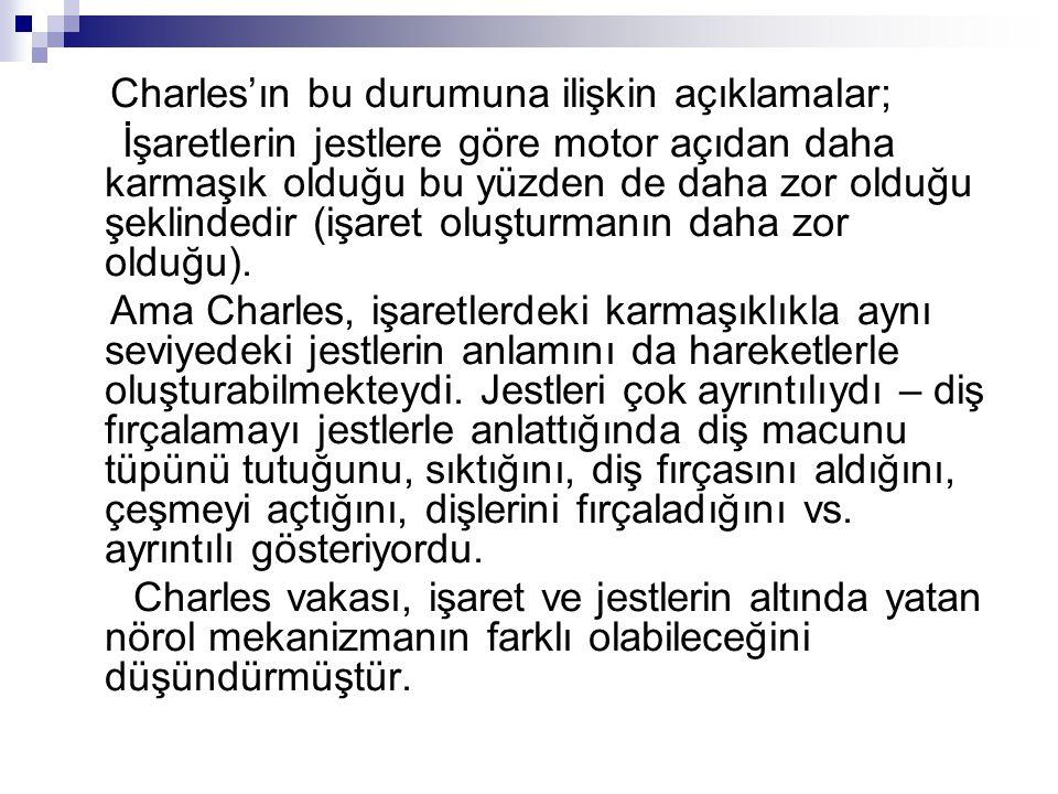 Charles'ın bu durumuna ilişkin açıklamalar;