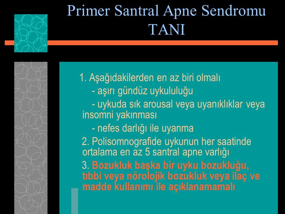 Primer Santral Apne Sendromu TANI