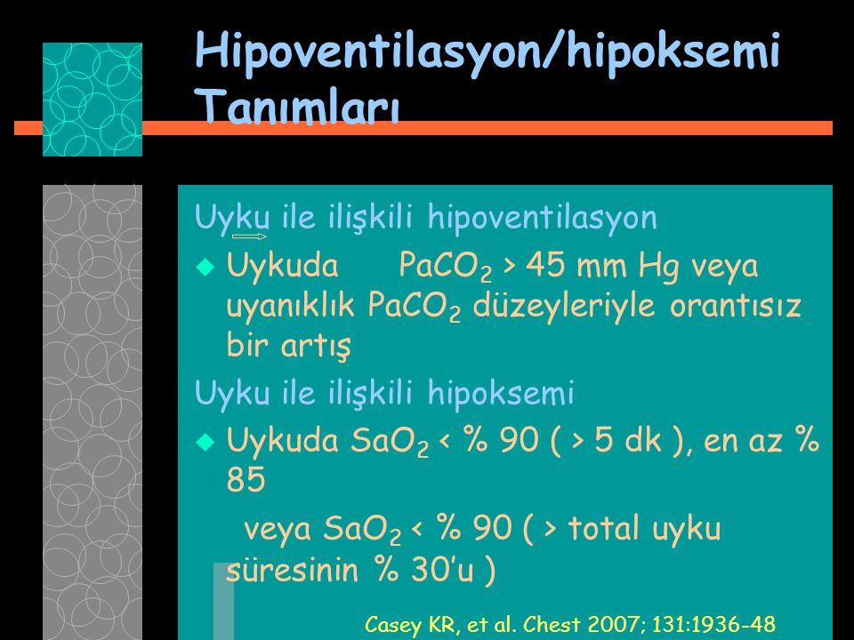 Hipoventilasyon/hipoksemi Tanımları