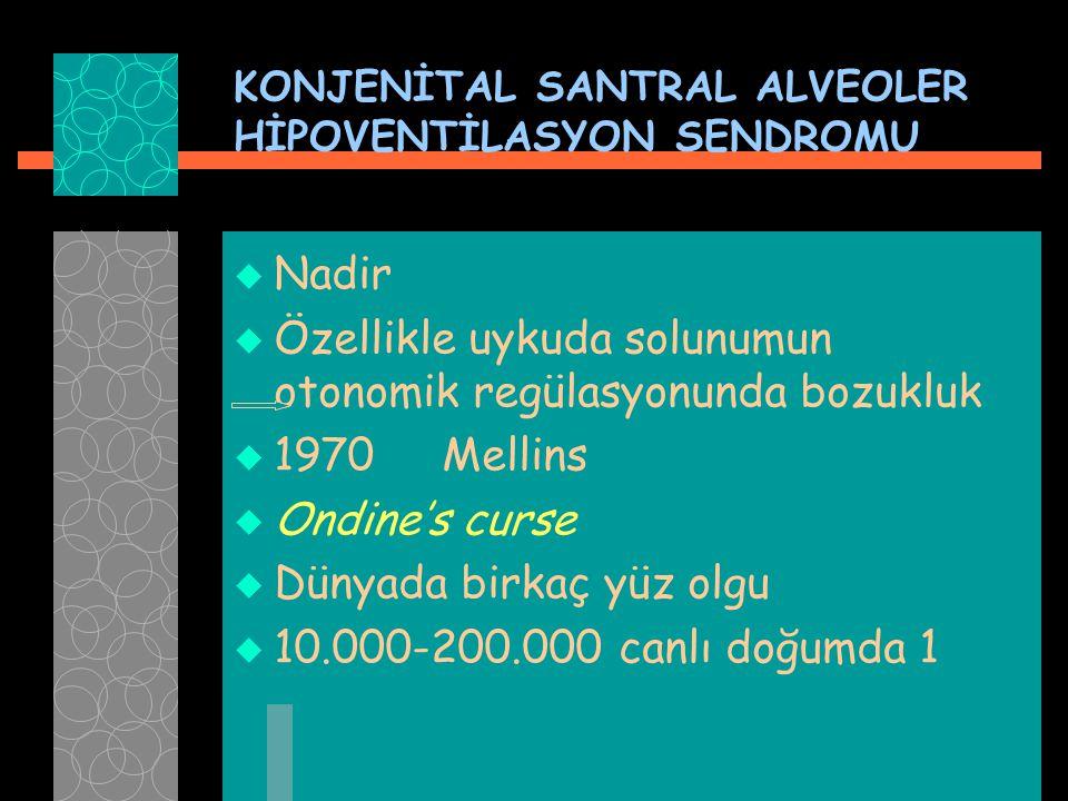 KONJENİTAL SANTRAL ALVEOLER HİPOVENTİLASYON SENDROMU