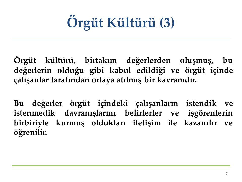 Örgüt Kültürü (3)