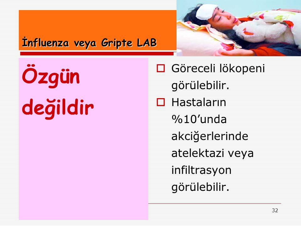 İnfluenza veya Gripte LAB