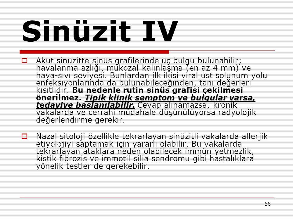 Sinüzit IV