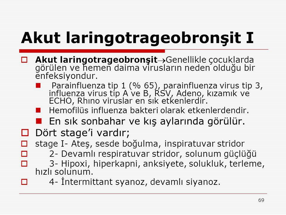 Akut laringotrageobronşit I