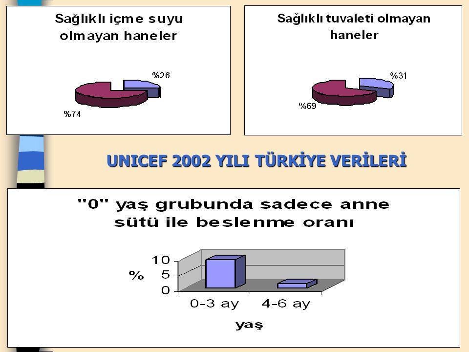 UNICEF 2002 YILI TÜRKİYE VERİLERİ