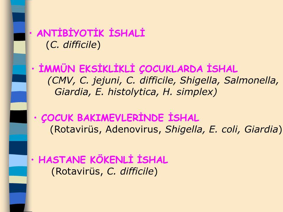 ANTİBİYOTİK İSHALİ (C. difficile)