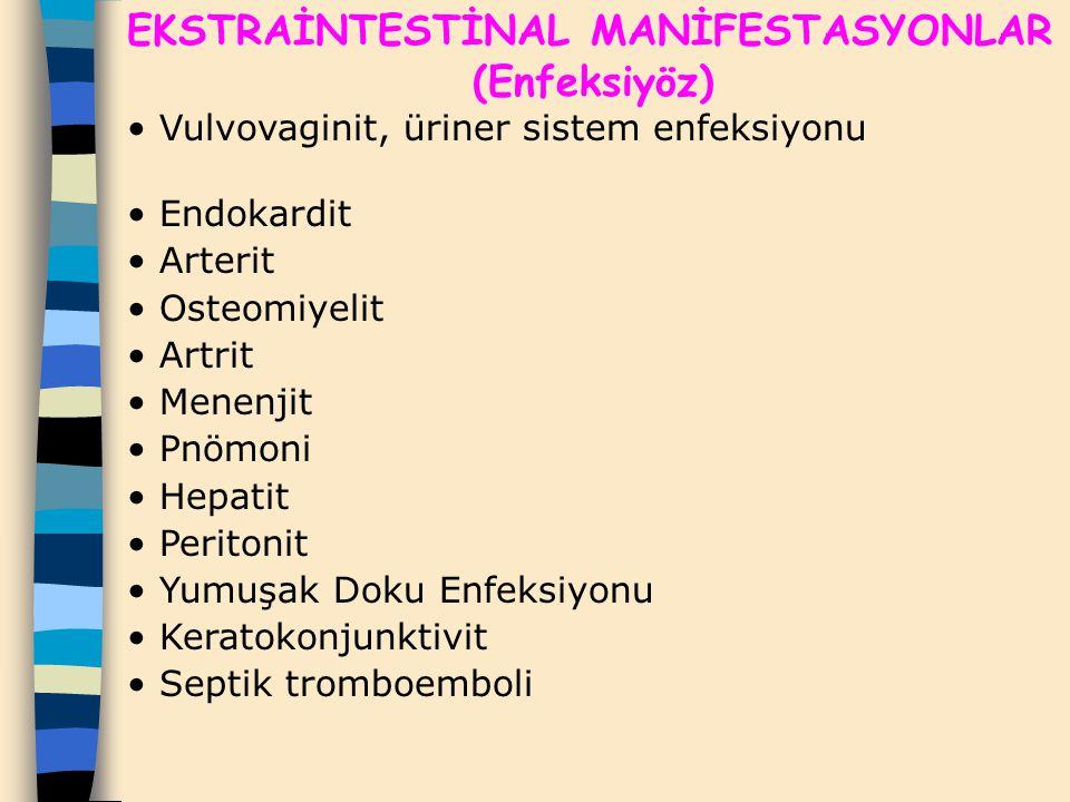 EKSTRAİNTESTİNAL MANİFESTASYONLAR (Enfeksiyöz)