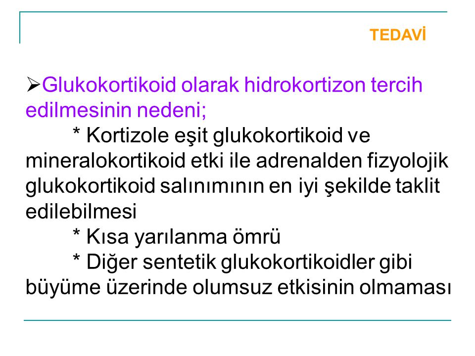 Glukokortikoid olarak hidrokortizon tercih edilmesinin nedeni;