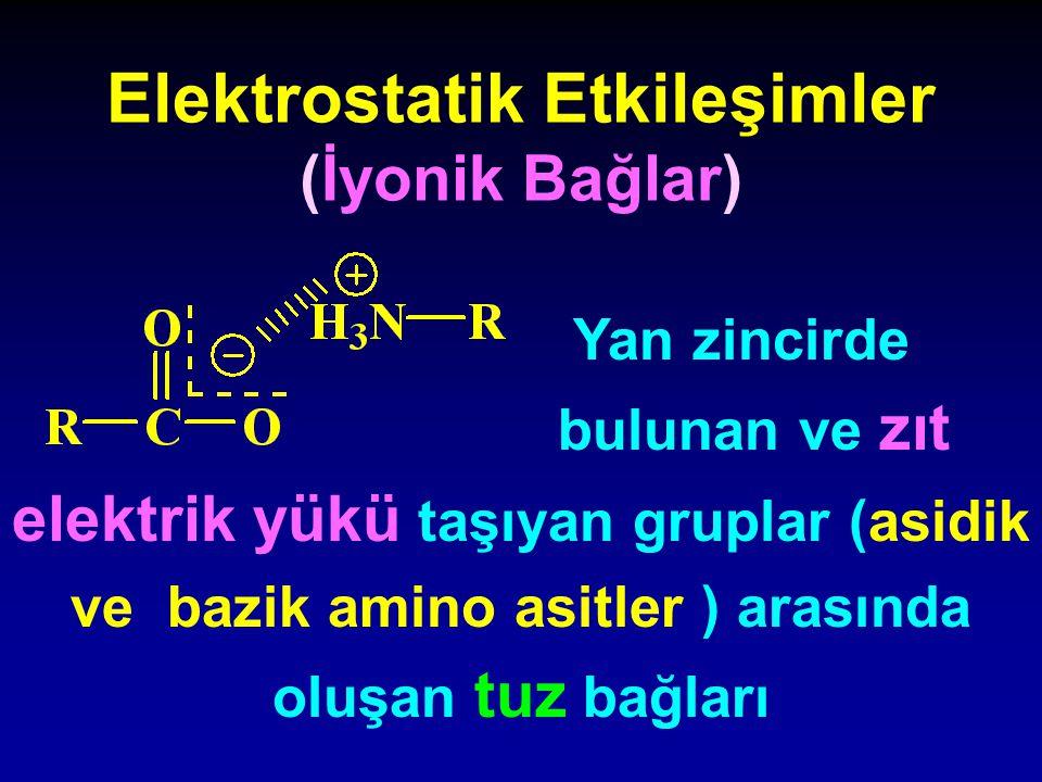 Elektrostatik Etkileşimler (İyonik Bağlar)