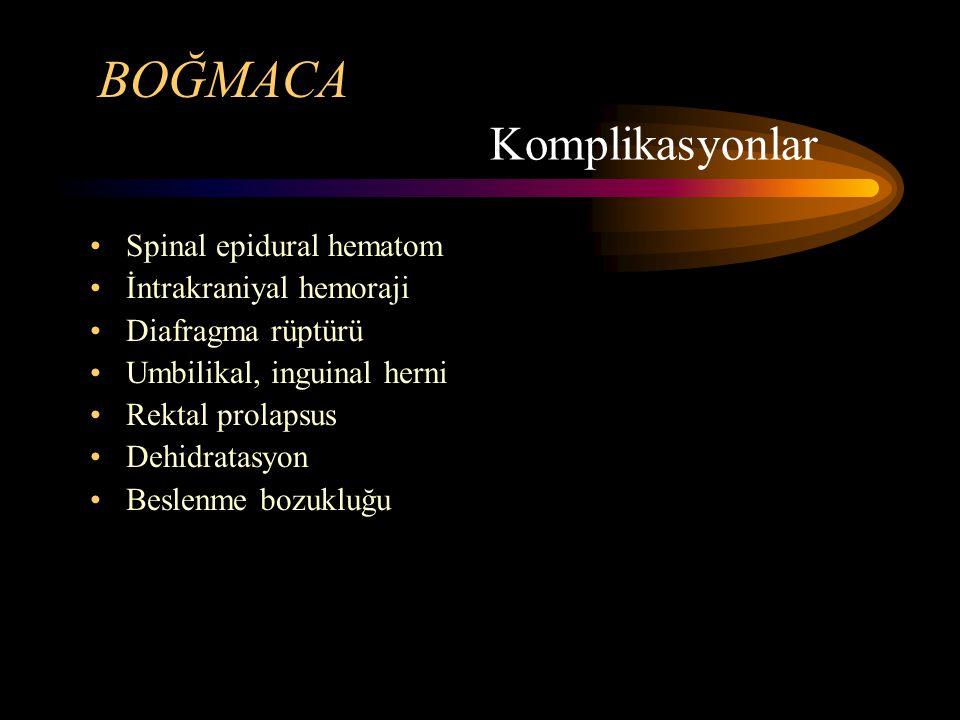 BOĞMACA Komplikasyonlar Spinal epidural hematom İntrakraniyal hemoraji