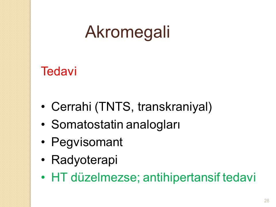 Akromegali Tedavi Cerrahi (TNTS, transkraniyal)