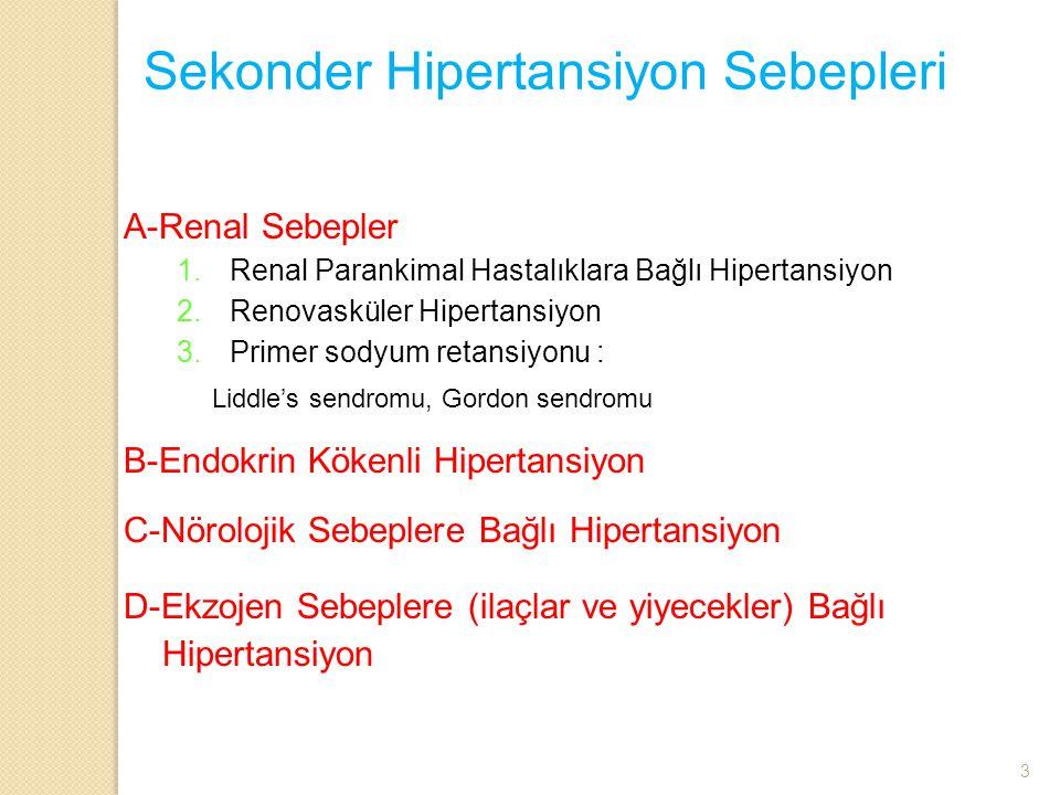 Sekonder Hipertansiyon Sebepleri