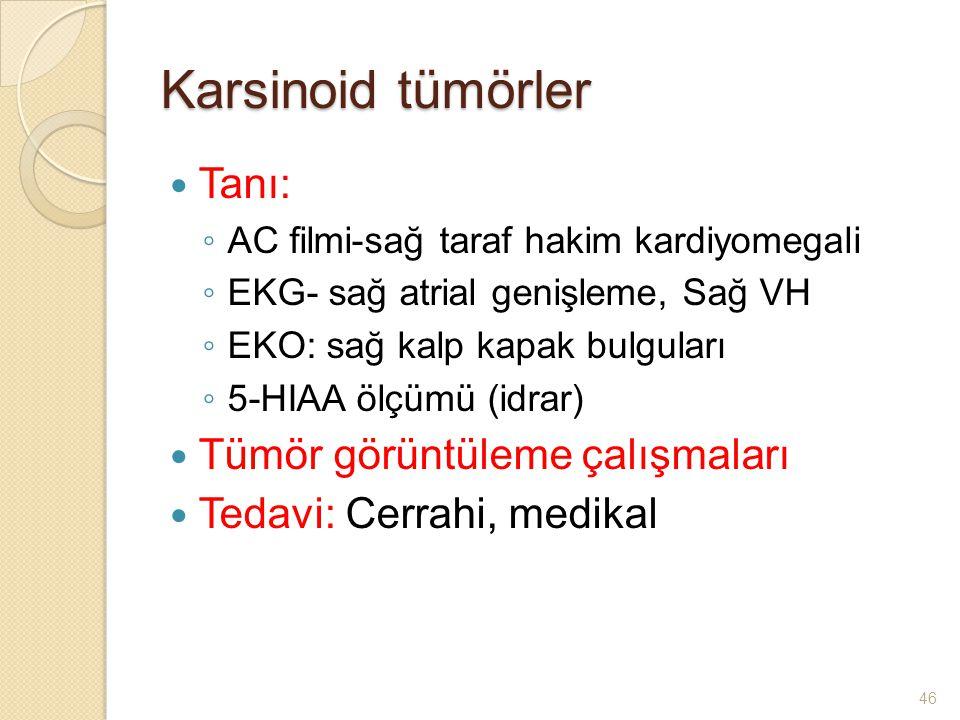 Karsinoid tümörler Tanı: Tümör görüntüleme çalışmaları