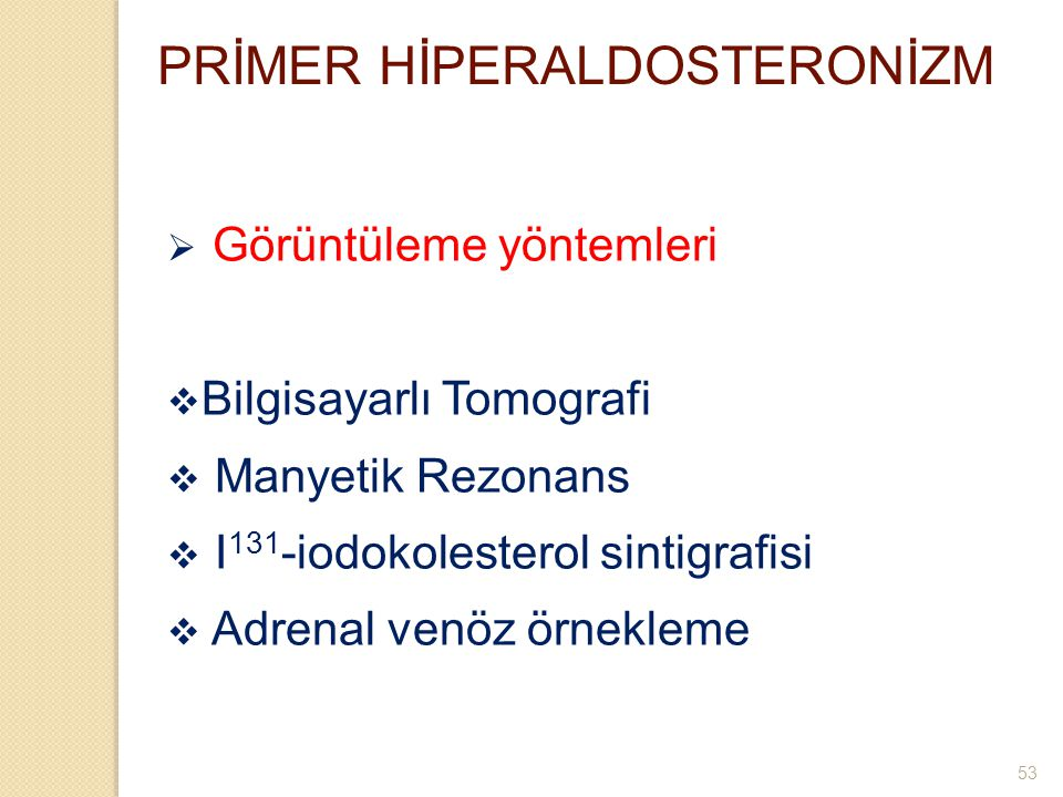 PRİMER HİPERALDOSTERONİZM