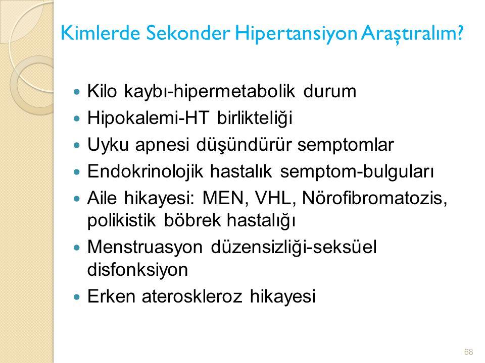 Kimlerde Sekonder Hipertansiyon Araştıralım