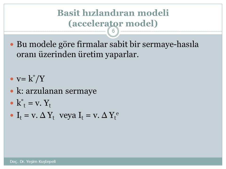 Basit hızlandıran modeli (accelerator model)