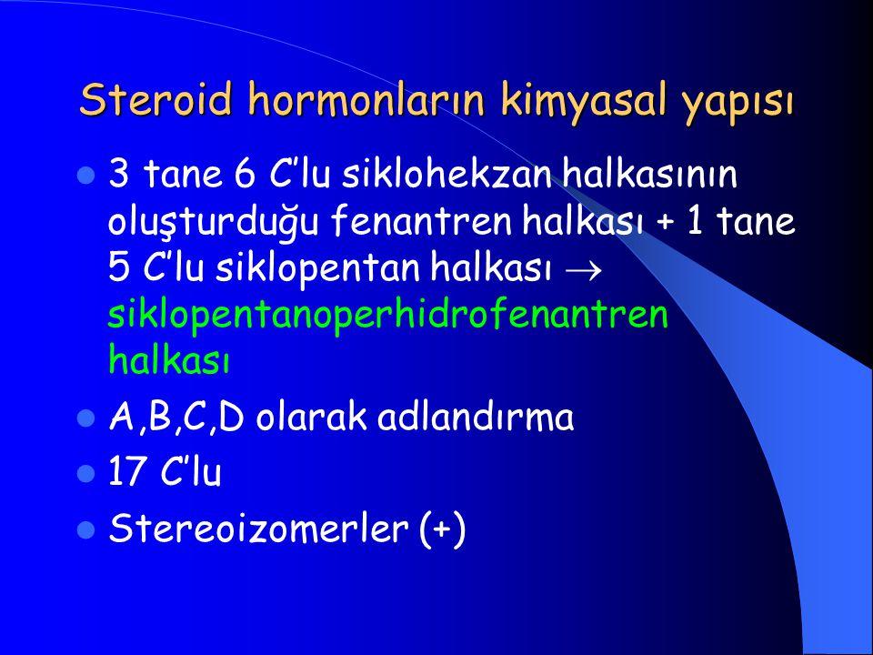 Steroid hormonların kimyasal yapısı