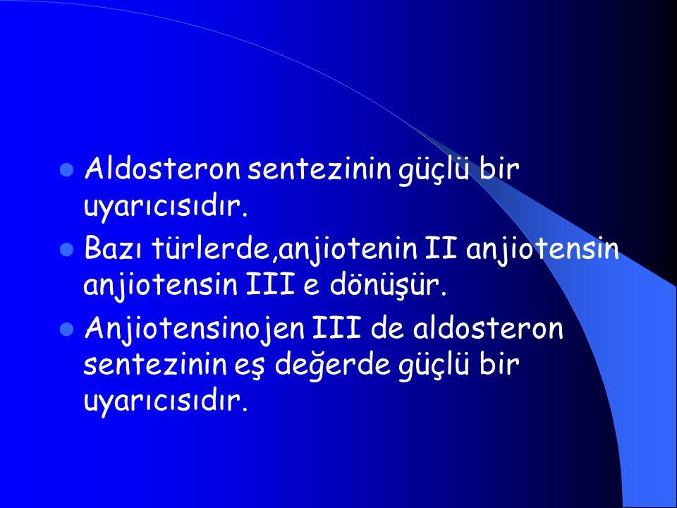 Aldosteron sentezinin güçlü bir uyarıcısıdır.