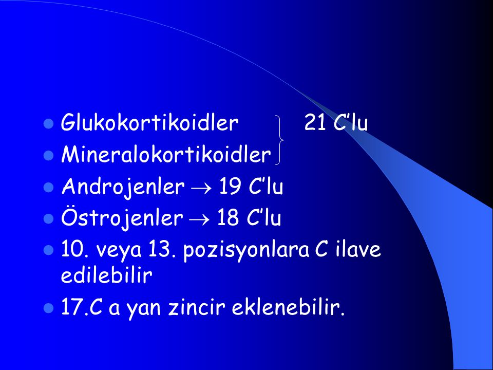 Glukokortikoidler 21 C'lu