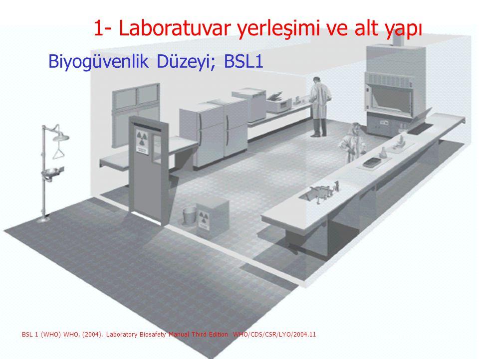 Biyogüvenlik Düzeyi; BSL1