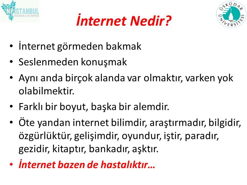 İnternet Nedir İnternet görmeden bakmak Seslenmeden konuşmak