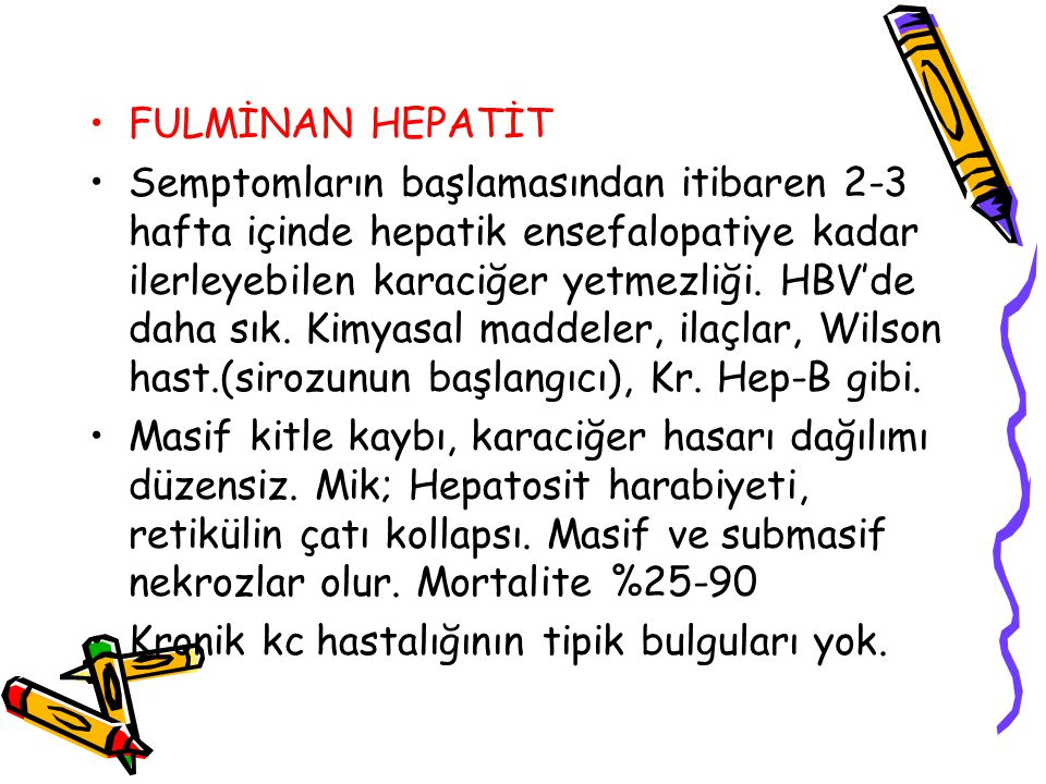 FULMİNAN HEPATİT