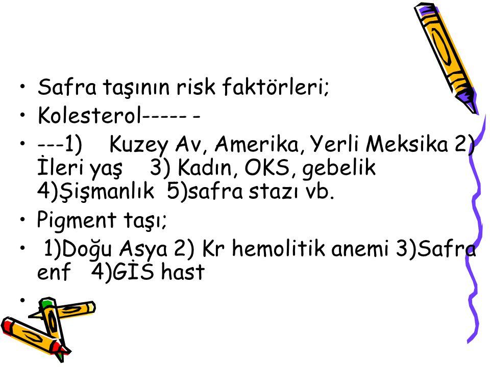 Safra taşının risk faktörleri;