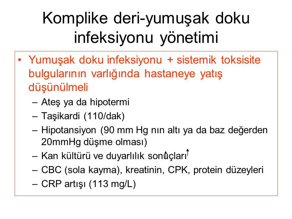 Komplike deri-yumuşak doku infeksiyonu yönetimi