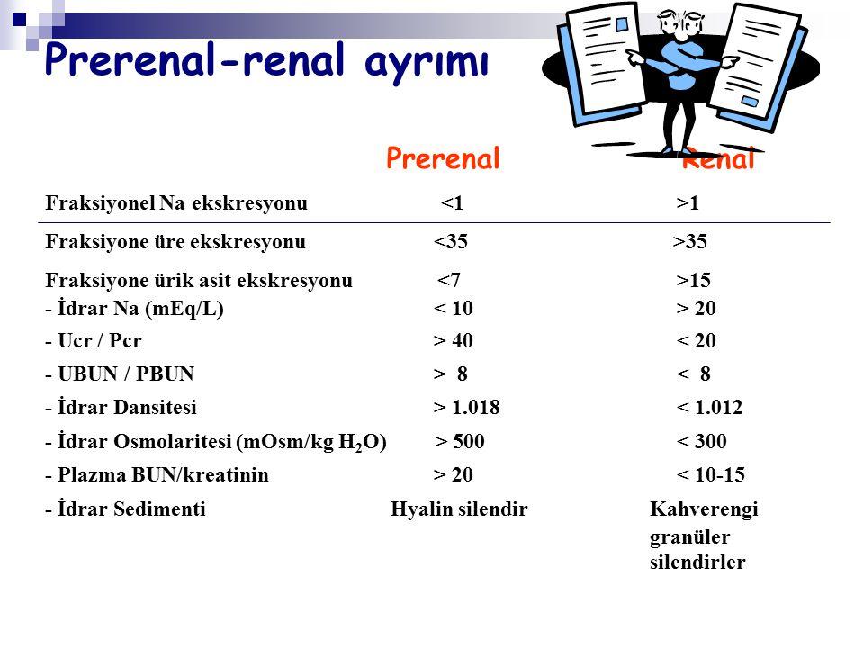 Prerenal-renal ayrımı