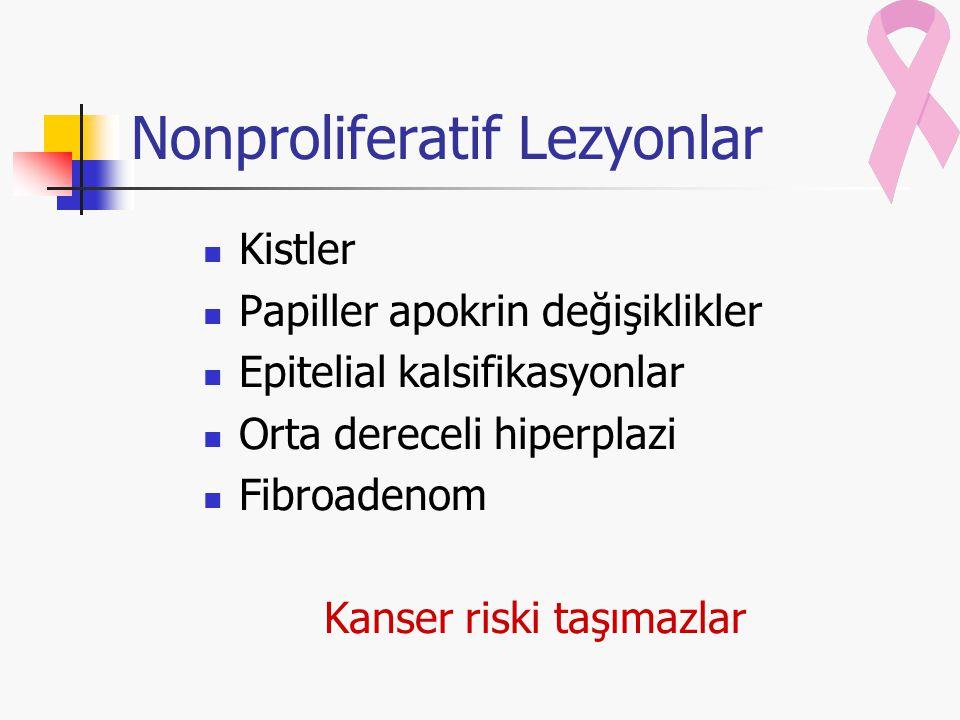 Nonproliferatif Lezyonlar