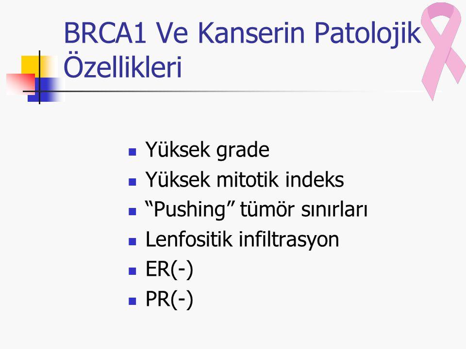 BRCA1 Ve Kanserin Patolojik Özellikleri