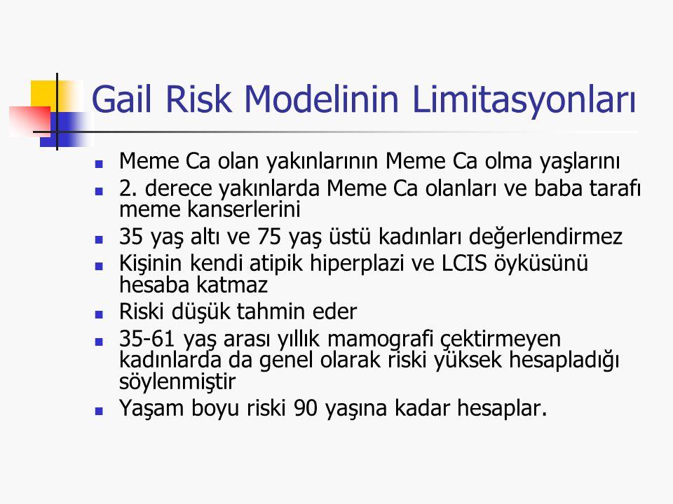 Gail Risk Modelinin Limitasyonları